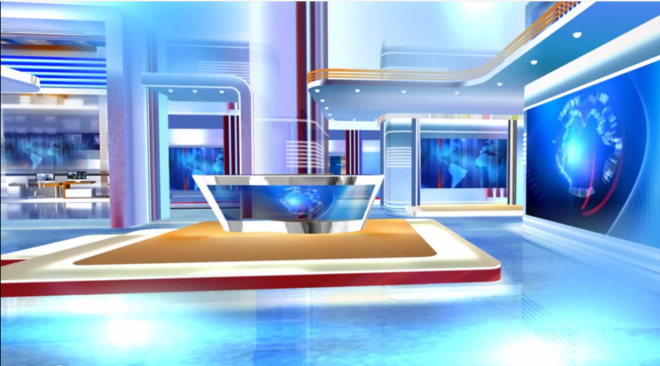 3d Virtual Sets Free News Studio Background Red And Blue HD