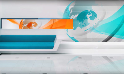 Tv news background