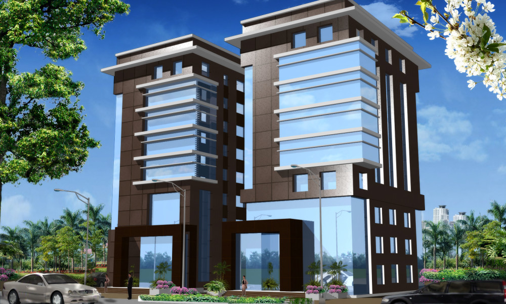 Commercial building cad 3d model free download free for Build house online 3d free