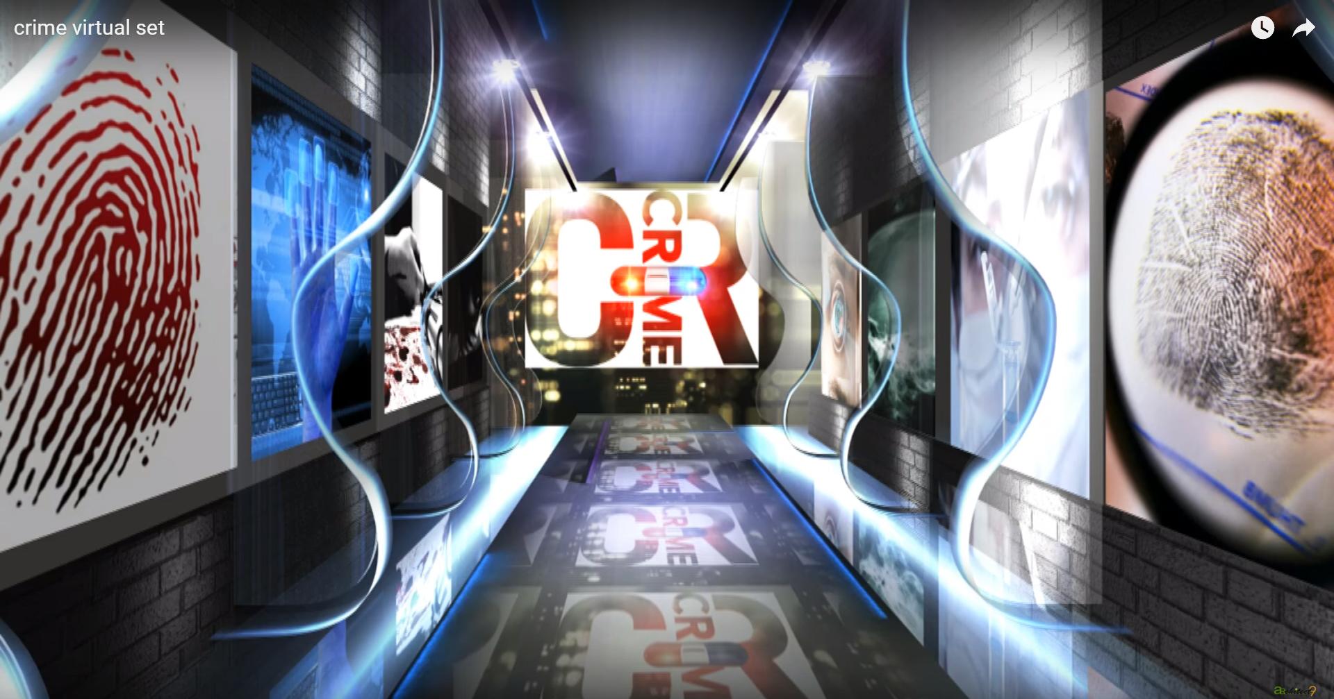 crime virtual set