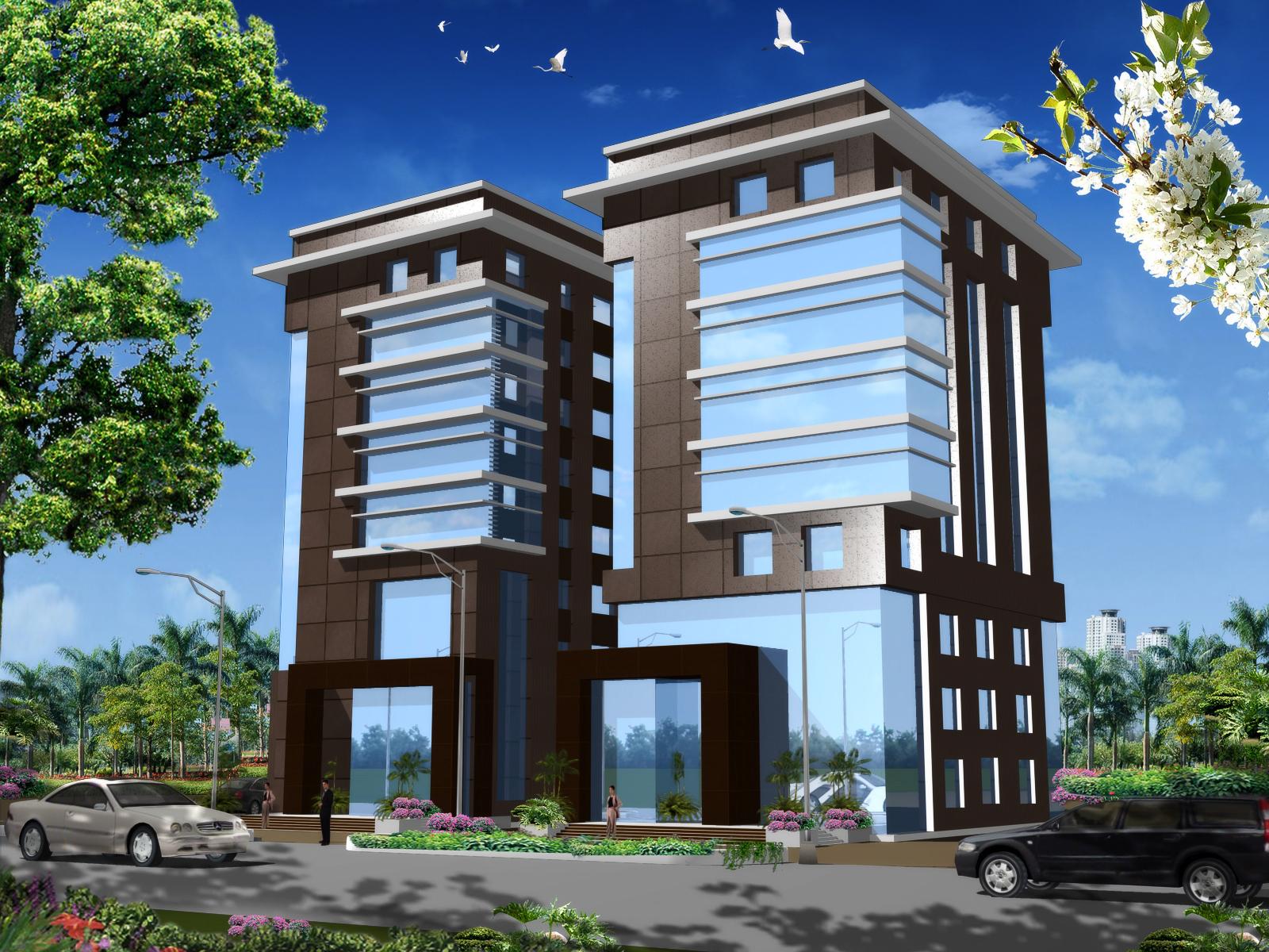 commercial building cad 3d model free download